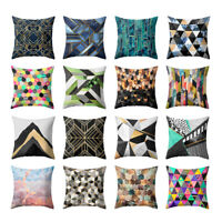 AB_ BL_ Fashion Geometric Pattern Cushion Cover Throw Pillow Case Home Bed Decor