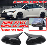For Toyota Corolla Levin 2020 2021 Carbon Fiber Look Side Door Mirror Cover Trim