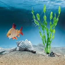 10Pcs Long Artificial Plastic Grass Aquarium Sea Weed Plant Home Fish Tank Decor