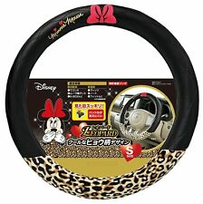 JDM Disney mickey Minnie mouse steering wheel cover Leopard Kawaii car accessory