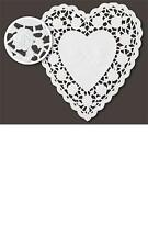 "NEW LOT 36 WHITE 6"" PAPER HEART DOILIES WEDDING INVITATIONS DOILEY CARDS ROSES !"