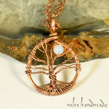 Natural Oal Tree Of Life Pendant Antiqued Copper Wire Wrapped