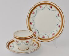 Vintage Royal Albert Crown China Trio - Roses with Swags - Keystone/ZigZag Band