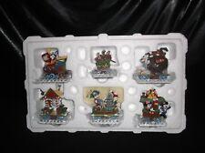 "Disney ""Goofy'S Yuletide Express"" 6 Piece Train Set By Danbury Mint"