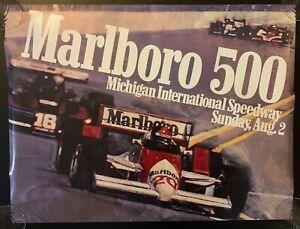 Rare Vintage 1987 Marlboro 500 Michigan International Speedway Racing Poster