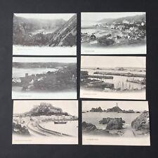 6 Antique Postcards JERSEY 1910 circa PC