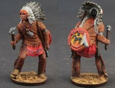 Tin toy soldiers  painted 54 mm tomahawk indian