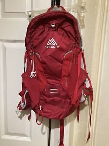 Gregory maya 22 daypack, lightweight, Red & White, NO WATER PACK