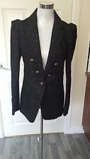 Ladies Next Tailored Blazer Double Breasted Suede Jacket RRP £75 Winter Coat