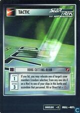 Star Trek CCG Blaze Of Glory Borg Cutting Beam Very Rare FOIL VRF