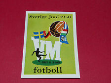 13 AFFICHE SUEDE 1958 PANINI WORLD CUP STORY 1990 SONRIC'S