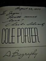 Cole Porter By Charles Schwartz Signed 1st  Ed