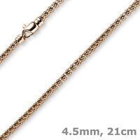 4,5mm Himbeer-Armband aus 585 Gold Rotgold 21cm Armschmuck Armkette rund, Damen
