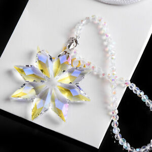 Crystal Snowflake Christmas Tree Hanging Pendant Decor Ornaments Accessories