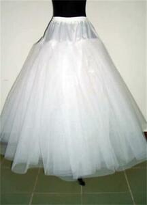 RULTA UK White 3-Layers Tulle Hoopless Wedding Dress Underskirt Petticoat N1