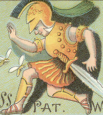 FLORENCE MA BOSS PAT GOLD WATCH CASES, JEWELER 1880s TRADE CARD, FREE SHIP TC446