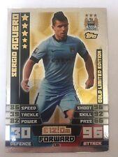 Match Attax Sergio Aguero 2014/2015 Gold Limited Edition Manchester City FC