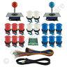 2 Player Arcade Control Kit 2 Ball Top Joysticks 16 Buttons Xin-Mo Red/Blue MAME
