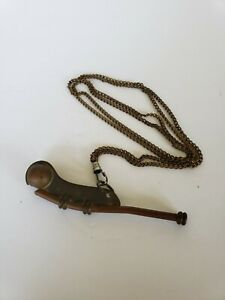 Vintage  Navy Naval Boatswain's Bosun's Pipe / Whistle Brass Copper