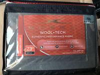 NIP Sheex Wool Tech Sheet Set Full Taupe