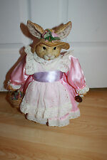 "Mrs Rabbit Bunny Doll 16"" Brinn's 1992 Collectors Edition Easter"