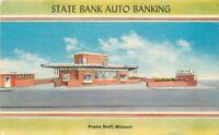 Hendrickson 1940s State Bank Popular Bank Missouri Postcard linen 11469