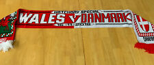 Wales v Denmark Match Scarf Welsh Danish Football Scarves / Memorabilia