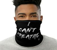 I Cant Breathe Face Cover Neck Gaiter Anarchy Political Protest Activist Resist