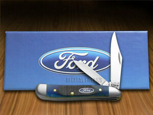 Case xx Ford Peanut Knife Blue Bone Handle Stainless Pocket Knives 14306