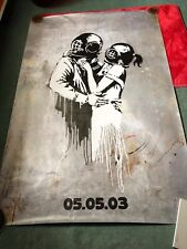 RARE Banksy Think Tank Lithograph Large format Billboard / Bus stop Poster Blur