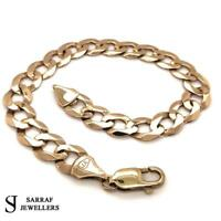 "CURB Bracelet 375 9CT Yellow Gold SOLID Genuine 13.4gr BRAND NEW GIFT 9"" 10MM"