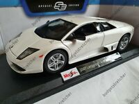 MAISTO 1:18 Scale 2007 Lamborghini Murcielago LP 640 - White - Diecast Model Car