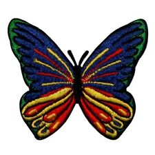 ID 2001 Multi Color Butterfly Insect Embroidered Iron On Applique Patch