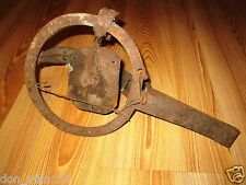 OLD ANTIQUE PRIMITIVE IRON TRAP HAND FORGED