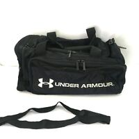 """Under Armour Large Duffle Bag 22""""x15"""" x15"""" with Shoulder Strap Black pre-owned"""