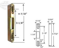 "Sliding Glass Patio Door Keeper, 4-7/32"" Height x 11/32"" Width"