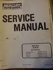 Mercury Outboards Dealer Service Manual Models 35 & 40 OEM 1990
