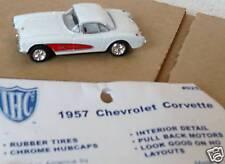 WHITE 1957 CHEVY CORVETTE NEW 1:64 SCALE DIE CAST