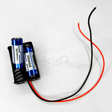 "1x 23A A23 Cells 2pcs Battery Size 24V Clip Holder Box Case two with 6"" Leads"