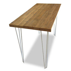 Rustic Industrial Kitchen Island Bar Bench Dining Table w/ Hairpin Legs 5cm Top