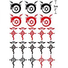 21pcs Anime Cosplay Fullmetal Alchemist Homunculu Ouroboros Tattoo Sticker