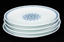 Noritake Nippon Toki Kaisha Dinner Plates (4) #N1232 Blue Greek Key Circa 1955