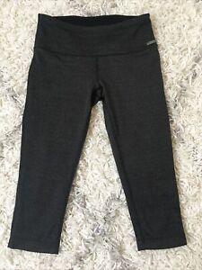 MPG Herringbone Mid rise Gray Black Capri Skinny Pants size Small Womens