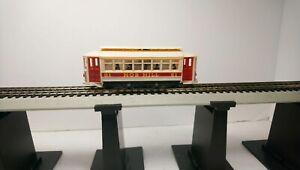 Tyco HO Train Nob Hill Powered Street Car/Trolley RTR