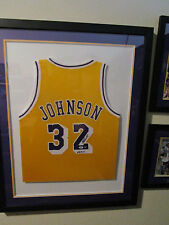 Magic Johnson Signed/Framed HOF02 LA Lakers Jersey PSA 3A98827