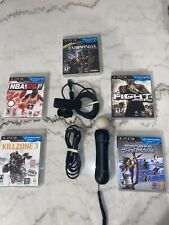 Sony PlayStation Move Motion Controller PS3/Eye Camera/5 Complete Games!