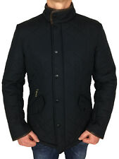 Barbour Powell Quilted Men's Jacket Mqu0281 in Navy Large