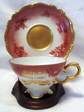 Edelstein Bavaria China Maria Theresia Germany Floral wGuilding Tea Cup & Saucer