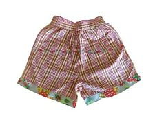 New OILILY Kids Plaid 100% Cotton Embroidered Shorts - Size 122 US 6-7