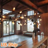 12-Lights Retro Industrial Sputnik Chandelier Pendant Lighting Ceiling Fixtures